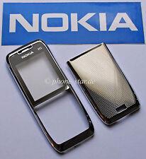 Original Nokia e51 a-cover Front Tapa batería Tapa trasera housing fascia White Steel