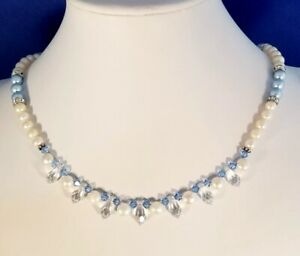 O-PROMISE-ME-PEARL-CRYSTAL-WEDDING-BRIDE-NECKLACE-EARRING-SET
