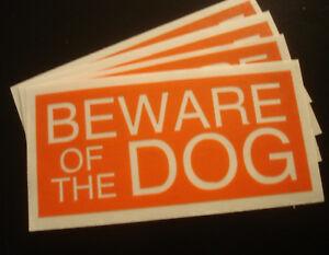 Beware-of-the-dog-HQ-Contour-Cut-Vinyl-Sticker-Small-43mm-x-93-mm