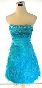Silver Prom Party Dress 3 MASQUERADE $120 Seafoam