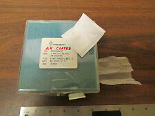 Laser Optics Quarter-Wave Plate 13 X 29mm AR Anti-Reflective Coated NOS
