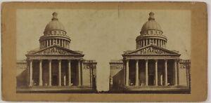 Il Pantheon Parigi Francia Foto Stereo PL28Th1n5 Vintage Albumina c1865