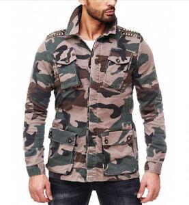 Kingz-Field-Camouflage-Mens-Jeans-Jacket-Jacket-Denim-Jacket-All-Size-NEW