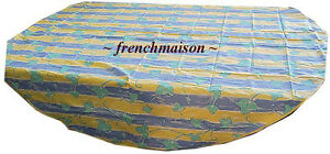French-Made-Country-Chic-Provence-Cotton-Round-TABLECLOTH-Big-Bold-Leaves-New