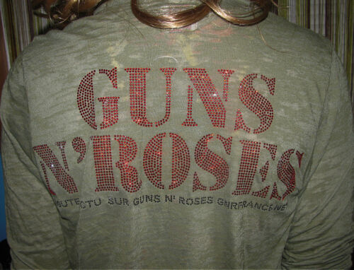 E vil 140 avec S ouvert N Soft Guns Burnout Nouveau Cardigan ouvert cardigan 'Roses f4dwnqf1