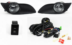 Toyota-Yaris-09-11-2-4dr-Hatchback-Front-Bumper-Clear-Fog-Lights-Lamps-w-Switch