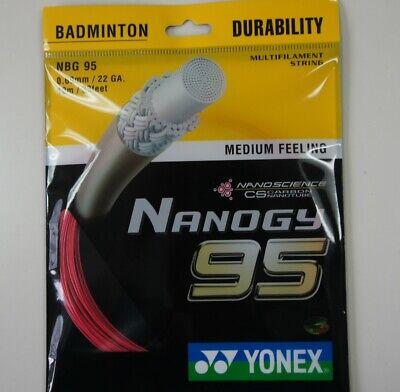 Paper Case RED JP Version 5 pkts YONEX Badminton Nanogy 98 NBG-98 String