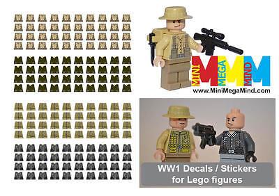 Decals -World War 1 (WW1, WWI , First World War) stickers for lego