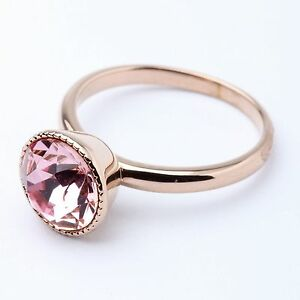 Genuine-Pink-Austrian-Round-Sparkly-Crystal-Rose-Gold-Plated-Ring-UK