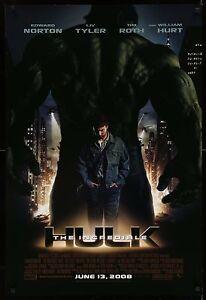 INCREDIBLE-HULK-2008-Movie-Poster-27x40-StanLee-MARVEL-SciFi-MoviePoster