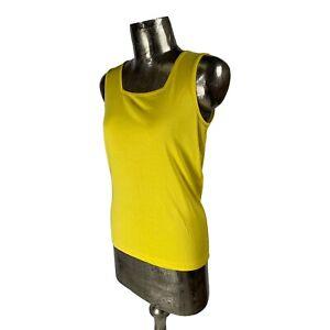 Signature Cotton Yellow Tank Top T-Shirt Vest NEW UK M 12 (EU40) Women's RRP £22