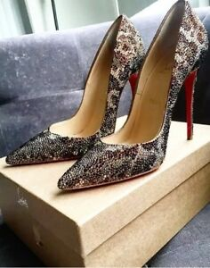 d134c340ec6e Image is loading Christian-Louboutin-So-Kate-Strass-Leopard