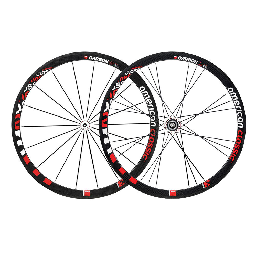 American Classic Carbon 38 Tubular Shimano Wheelset 9 10 11 Speed Freehub White