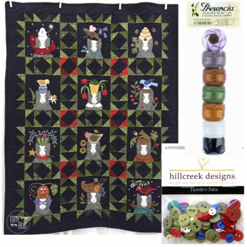 Buttons /& Thread ~ Wool Woolies Flannel Applique Tuxedo/'s Tales Quilt Pattern
