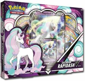 Pokemon TCG: Galarian Rapidash V Collection Box - Factory Sealed