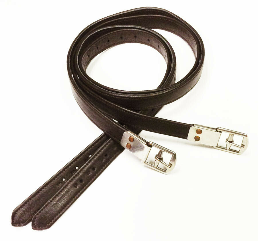 Calf Wrapped Nylon Core No Stretch Stirrup Leathers