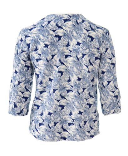 Womens Light Jacket Size 16-26 White Blue Print Ladies *LICK* Exclusive