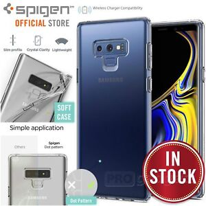 separation shoes f8070 2d2bf Details about Galaxy Note 9 Case, Genuine SPIGEN Slim Liquid Crystal Soft  Cover for Samsung