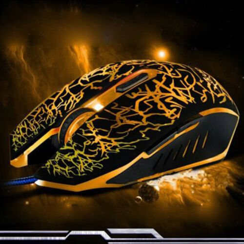 Cool 4000 DPI Mice 6 LED Buttons Wired USB Optical Gaming Mouse For Pro Gamer HK