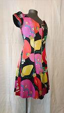 """Robe Fashion (évase) motifs multicolores -- """"NICOLE MILLER Paris"""" -- T. 36"""