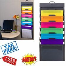 wall file organizer document holder pocket letter hanging office folder storage