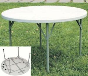 Tavoli tavolo rotondo da giardino per esterni in ferro pieghevole ebay - Tavoli pieghevoli da giardino ...
