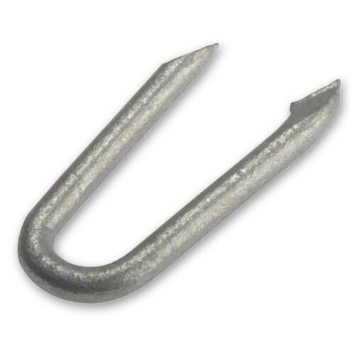160x GALVANISED STEEL U NAILS Wire Cable Hold Secure Staples Fence Mesh Fix 25mm