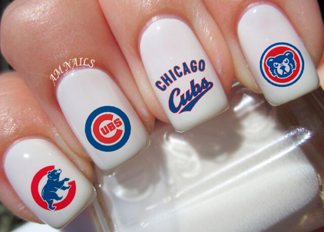 Chicago Cubs Nail Art Stickers Transfers Decals Set Of 56 Ebay
