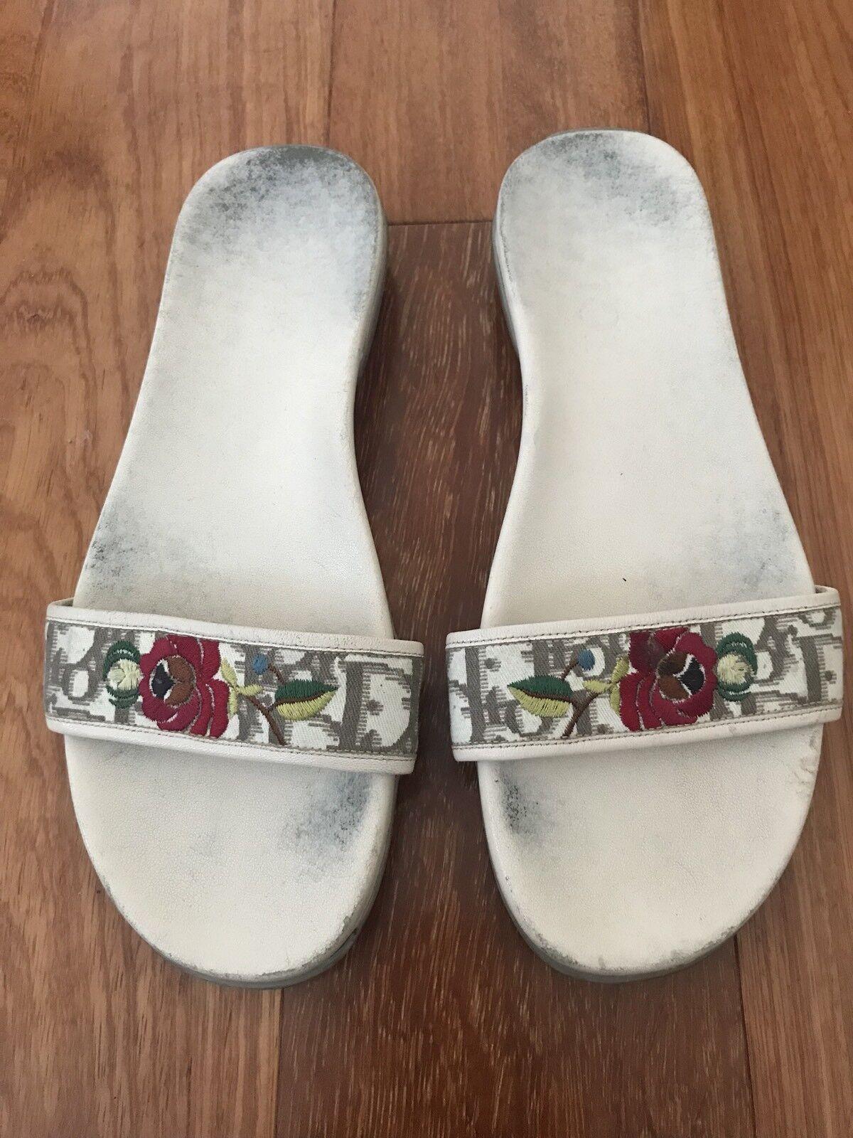 Dior Vintage Flat Sandals, 39