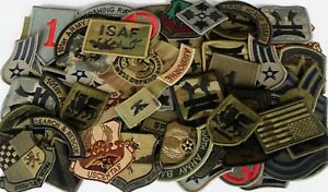 Lot-of-60-Assorted-US-Military-Army-amp-Air-Force-Unit-Insignia-Subdued-Patches