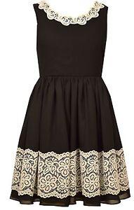 91fa6b30e1 Bonnie Jean Big Girls  Lace To Chiffon Special Occasion Black Party ...