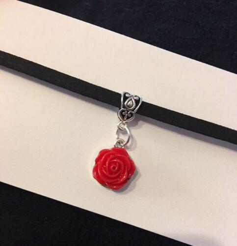 Red Rose Gargantilla Collar Flor Colgante Rockabilly Pin Gótico Steampunk Vintage
