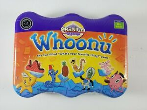 Cranium-Whoonu-Game-In-Tin-Container-NEW-Sealed-2005-Best-Toy-Award-Ages-8-Adult