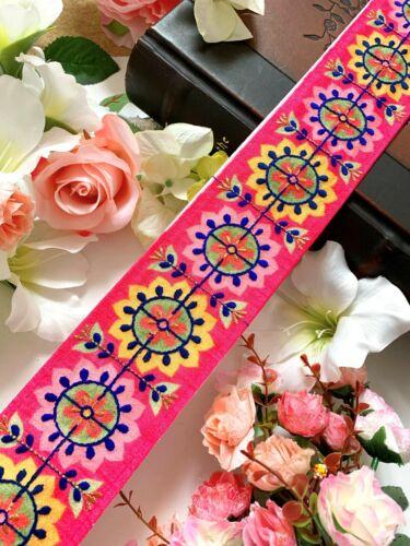 1 yardas último trabajo de hilo Zari Piedra India Encaje frontera étnica Cinta Craft