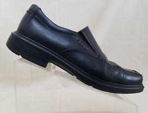 ECCO Shoes | Black Leather Shock Point Walking Slip | Poshmark