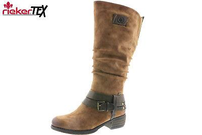 Rieker Damen Stiefel Braun Tex Membran Winter Schuhe Warmfutter NEU 93158 24 | eBay