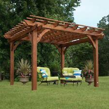 Outdoor Cedar Pergola Garden Patio Backyard Free Standing Wooden Gazebo 10 x 12 & Pergola Kits Gazebos Canopy Wooden Garden Standing Cedar Outdoor ...