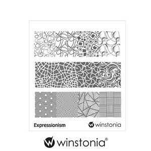 Winstonia-Nail-Art-Stamping-Image-Plate-EXPRESSIONISM-Abstract-Template-Stencils