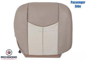 Astounding Details About 03 06 Gmc Yukon Yukon Xl Denali Passenger Side Bottom Leather Seat Cover Tan Ibusinesslaw Wood Chair Design Ideas Ibusinesslaworg