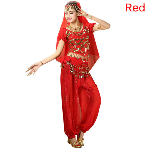 Women/'s Belly Dance Costumes Set Indian Dancing Dress Clothes Top Pants^ColMAEK
