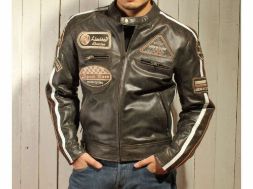Brown Size 48 to 60 neu.jacke Biker Jacket,Leather Jacket,Chopper Jacket