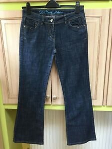 SystéMatique Next ???? Bleu Foncé Jeans Pantalon Taille 12 R Coton Bootcut Excellent état
