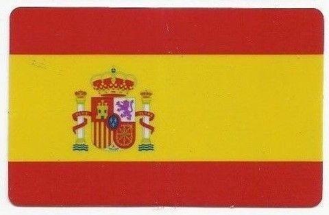 Sticker Aufkleber Flagge Fahne Spanien Hochglanz-Optik EC-Karten-Format