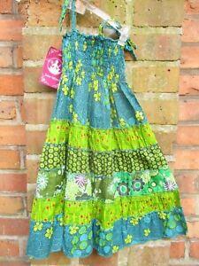 Kinder Kleid Rock Hippie Goa Sommerkleid Mädchen blau ...