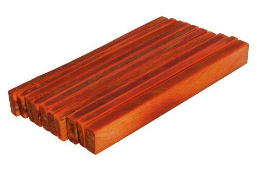 "10 pack Dyed Long Bone Saddle Blanks Red//Orange 4.25/"" x .5/"" x .16/"""