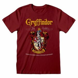 Harry-Potter-Gryffindor-Crest-Equipe-Quidditch-T-Shirt-Unisexe-Extra-Large-Rouge