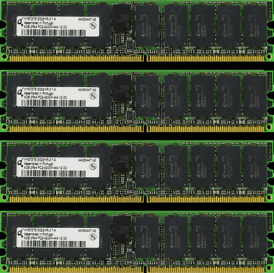 MEMORY FOR HP INTEGRITY BL860C BL870C RX2660 4X4GB 16GB
