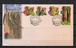 AUSTRALIE-nature-faune-flore-4-timbres-sur-1-enveloppe-FDC