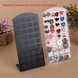Holes-Earring-Jewelry-Showcase-Plastic-Display-Rack-Stand-Holder-OrganizerAU