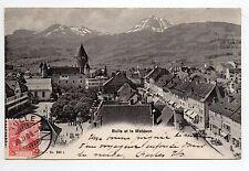 SUISSE SWITZERLAND canton FRIBOURG BULLE la ville et le moleson